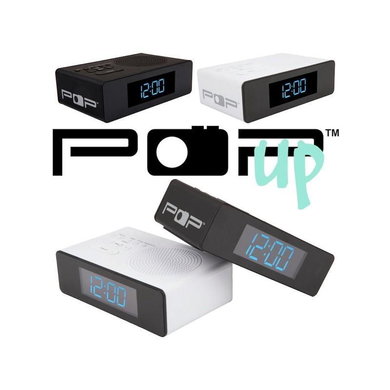 POPup klokkeradio med dobbel alarm